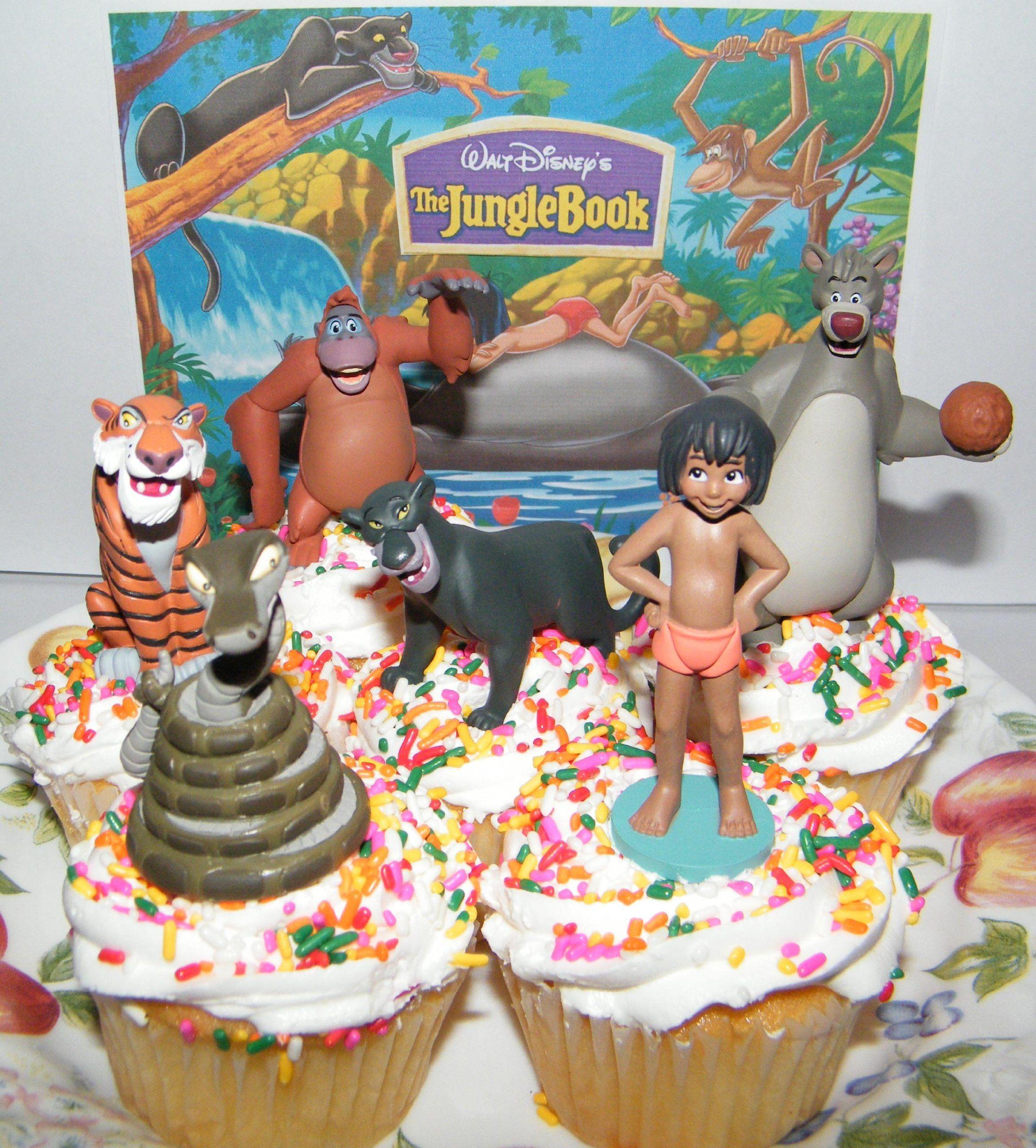 Captivating Amazon.com : Disney Jungle Book Cake Toppers / Cupcake Party Favor  Decorations Set Of