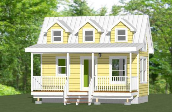 Tiny Home Designs: 20x10 Tiny House -- 281 Sq Ft -- PDF Floor Plan -- Model 2
