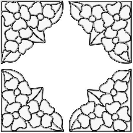 Pansy Corners Clear - Stained Glass Window Cling