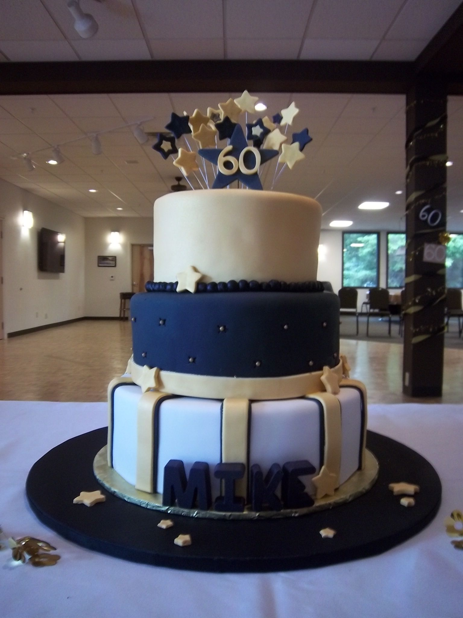60th Birthday Cake Black Amp Gold Brenda S Cakes