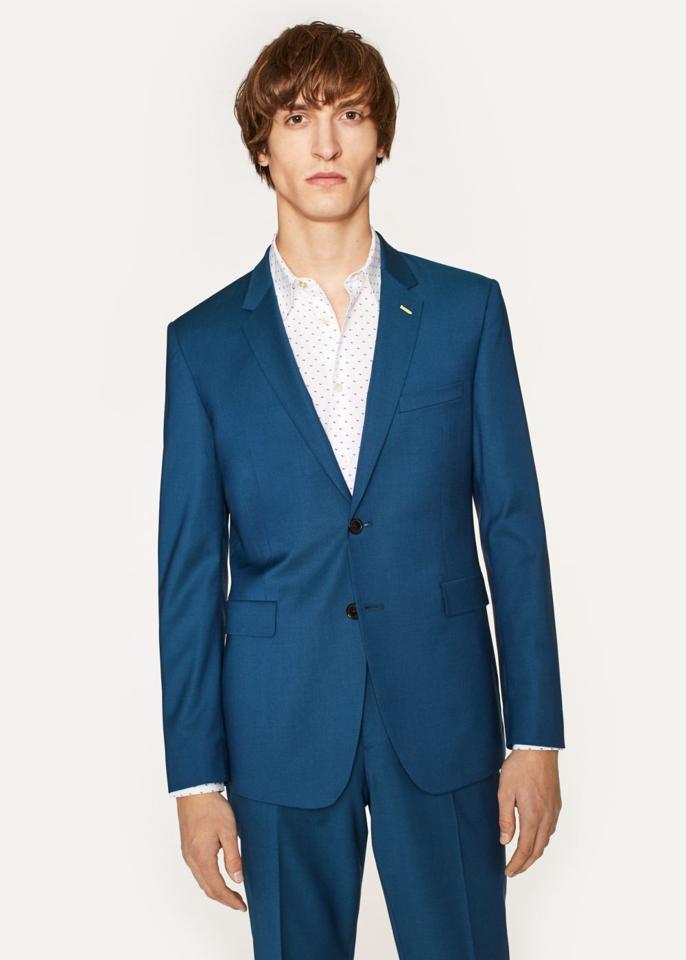 f563de67708fc5 Men's Slim-Fit Dark Petrol Wool Blazer - Paul Smith | Colour ...
