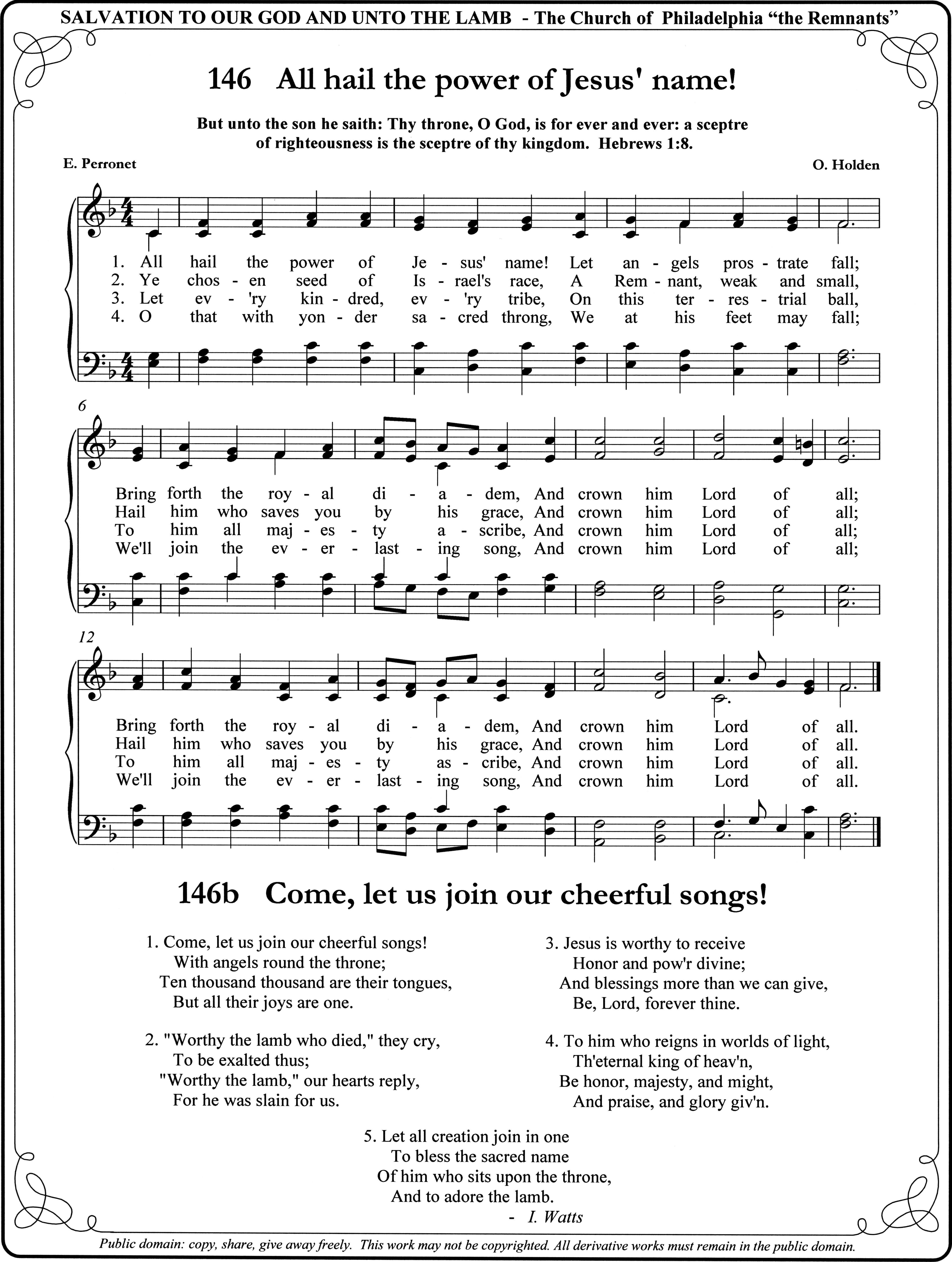 All Hail The Power Of Jesus' Name | Hymns I Love | Songs