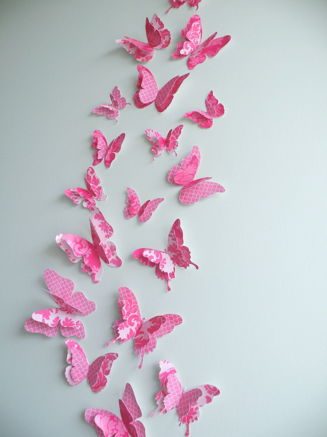 3D Butterfly wall art to decorate Nursery, Children's Room ...