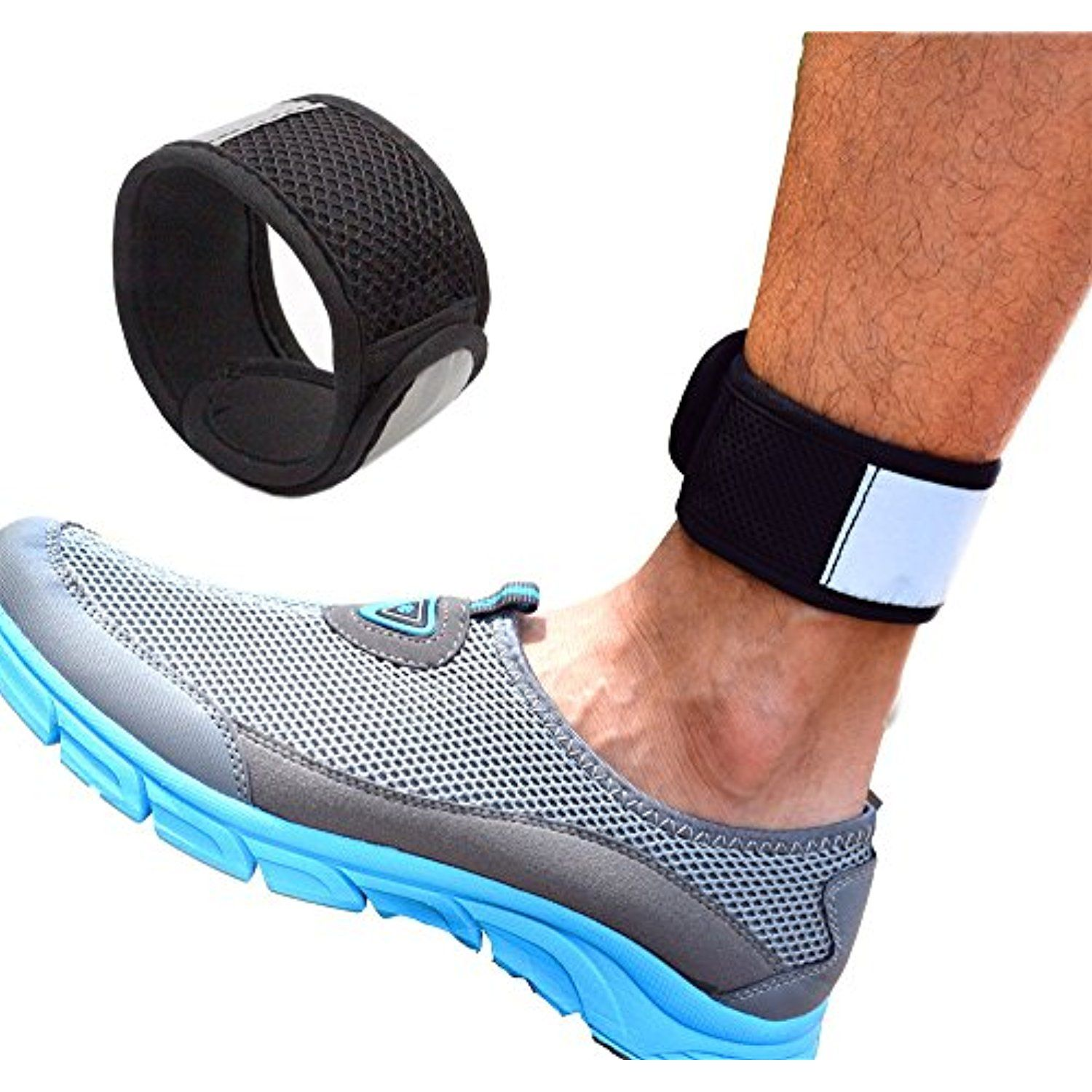 Reflective Ankle Band With Mesh Pouch For Fitbit Zip Charge2 Blaze