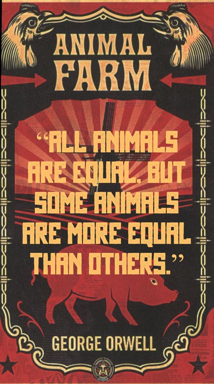 All animals are equal but some animals are more equal than