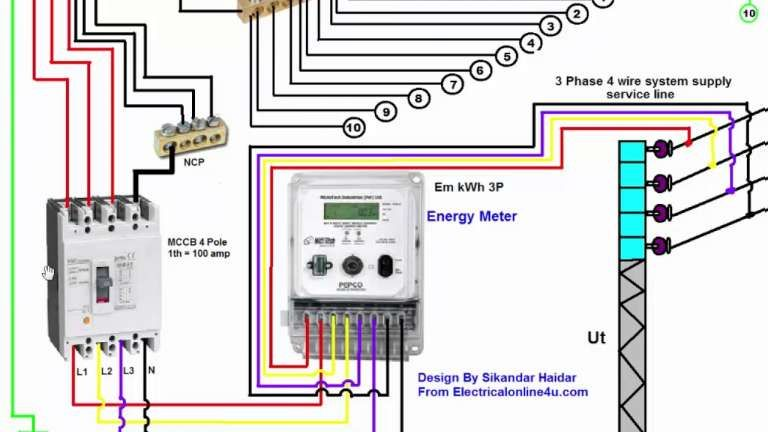 3 phase electrical switchboard wiring diagram and phase
