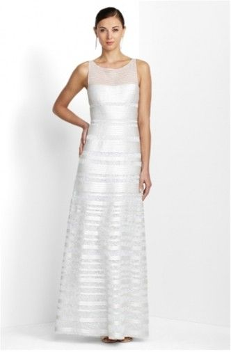 1 Wedding Dress Bcbg Brooke Sleeveless Satin Size 6 Fabulous