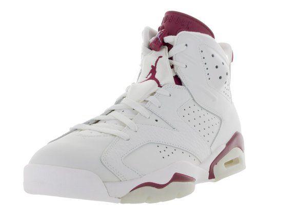 huge discount 41db0 3a601 Nike Herren Air Jordan 6 Retro Turnschuhe, Blanco   Rojo (Off White   New  Maroon), 40 EU