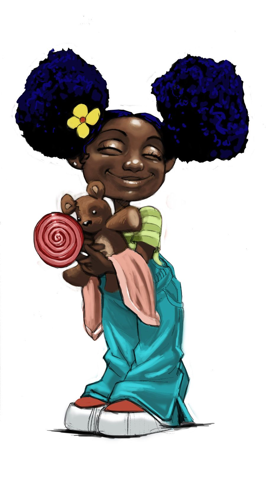 too cute I m loving the natural hair art Art Work