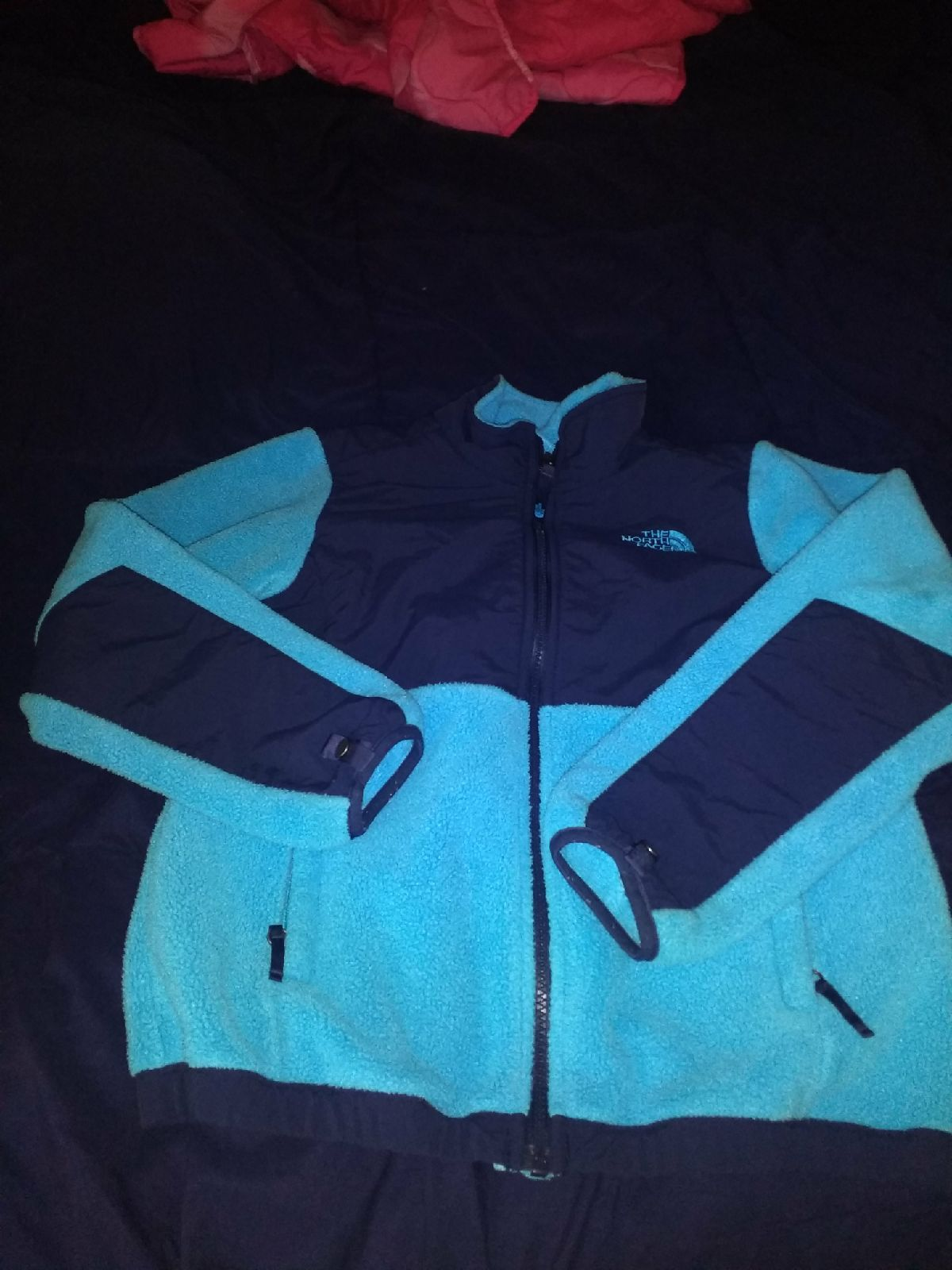 Kids North Face Denali Jacket Is Light Blue With Dark Navy Blue There Are No Rips Or Stains No Pulling Noted On The Jackets North Face Jacket The North Face [ 1600 x 1200 Pixel ]