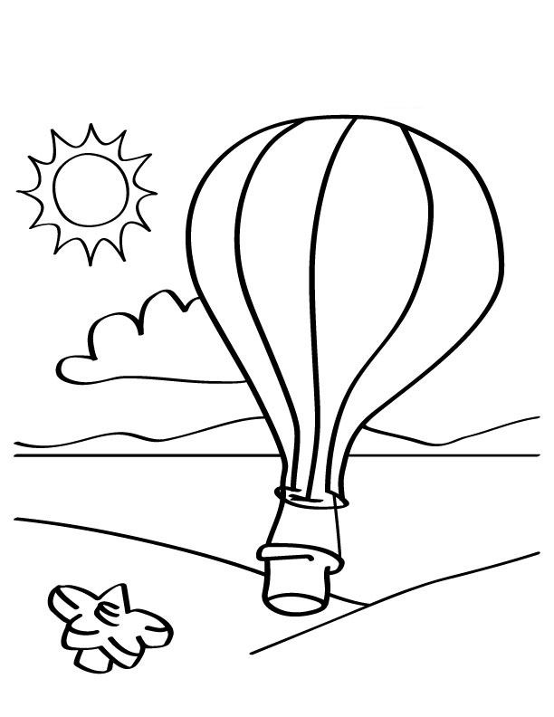 Free Printable Hot Air Balloon Coloring Pages For Kids  Alaunas