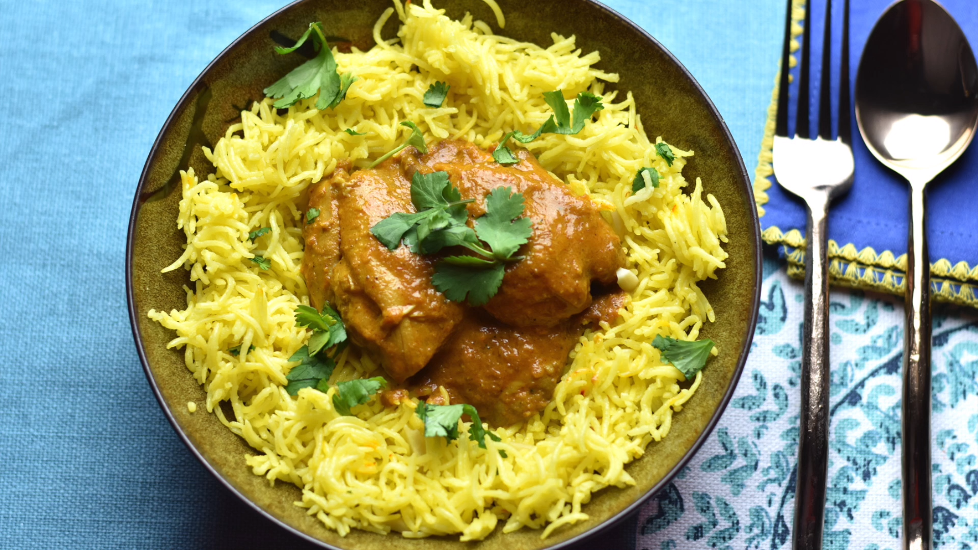 Photo of Easy Butter Chicken & Saffron Rice (Pot-in-Pot meal in Instant Pot)