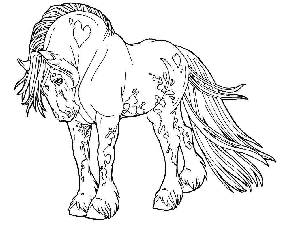 Clydesdale Horse Coloring Pages To Print Design