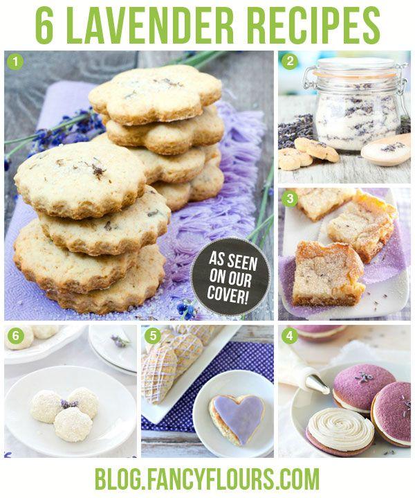 Lovely Lavender Recipes http://blog.fancyflours.com/2014/01/06/lovely-lavender-recipes/#more-3143