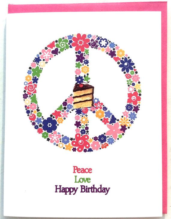 peace love and happy birthday greeting card social butterfly