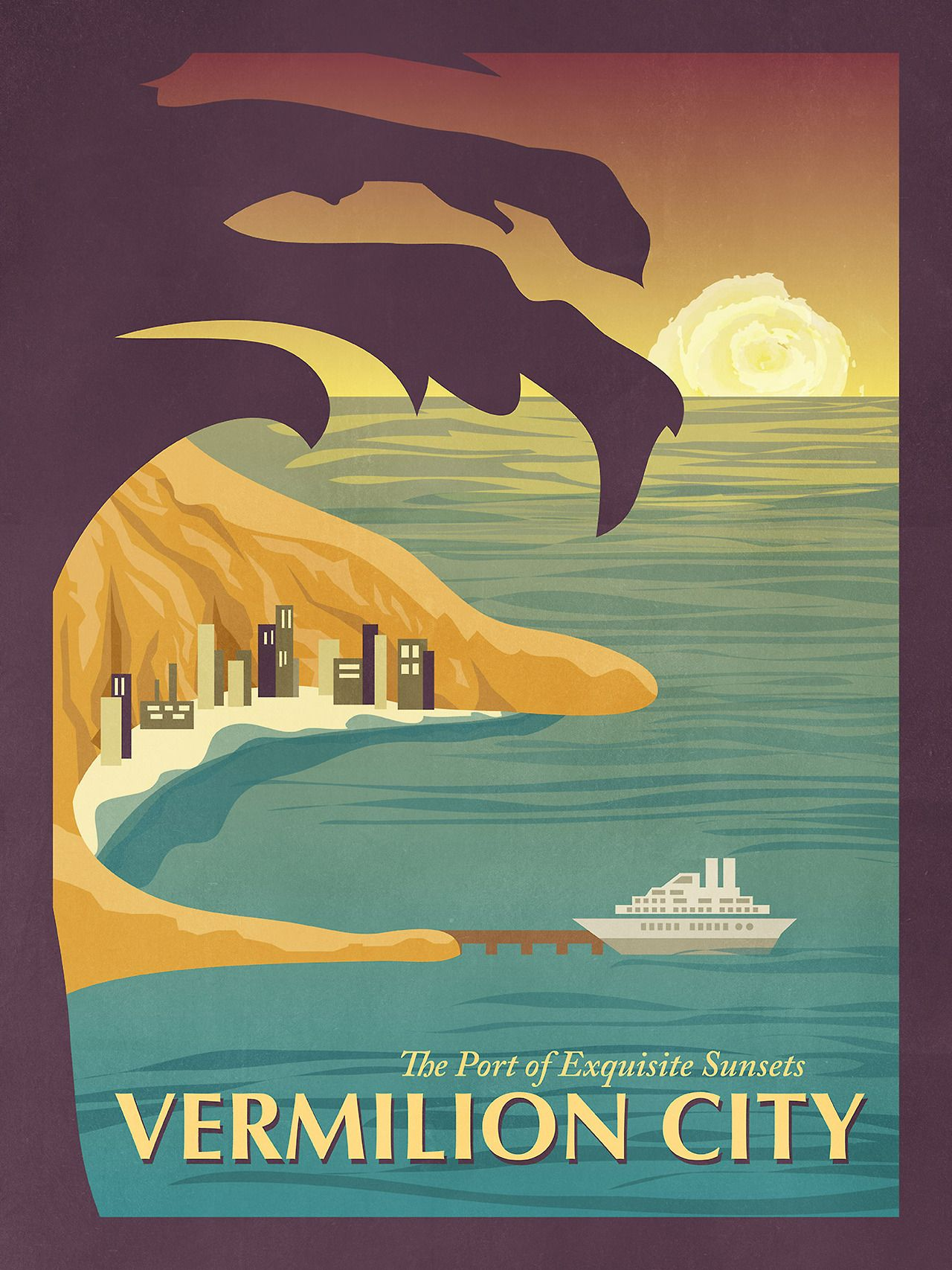 insanelygaming:  #Pokemon Travel Posters  Created by Alice Mongkongllite