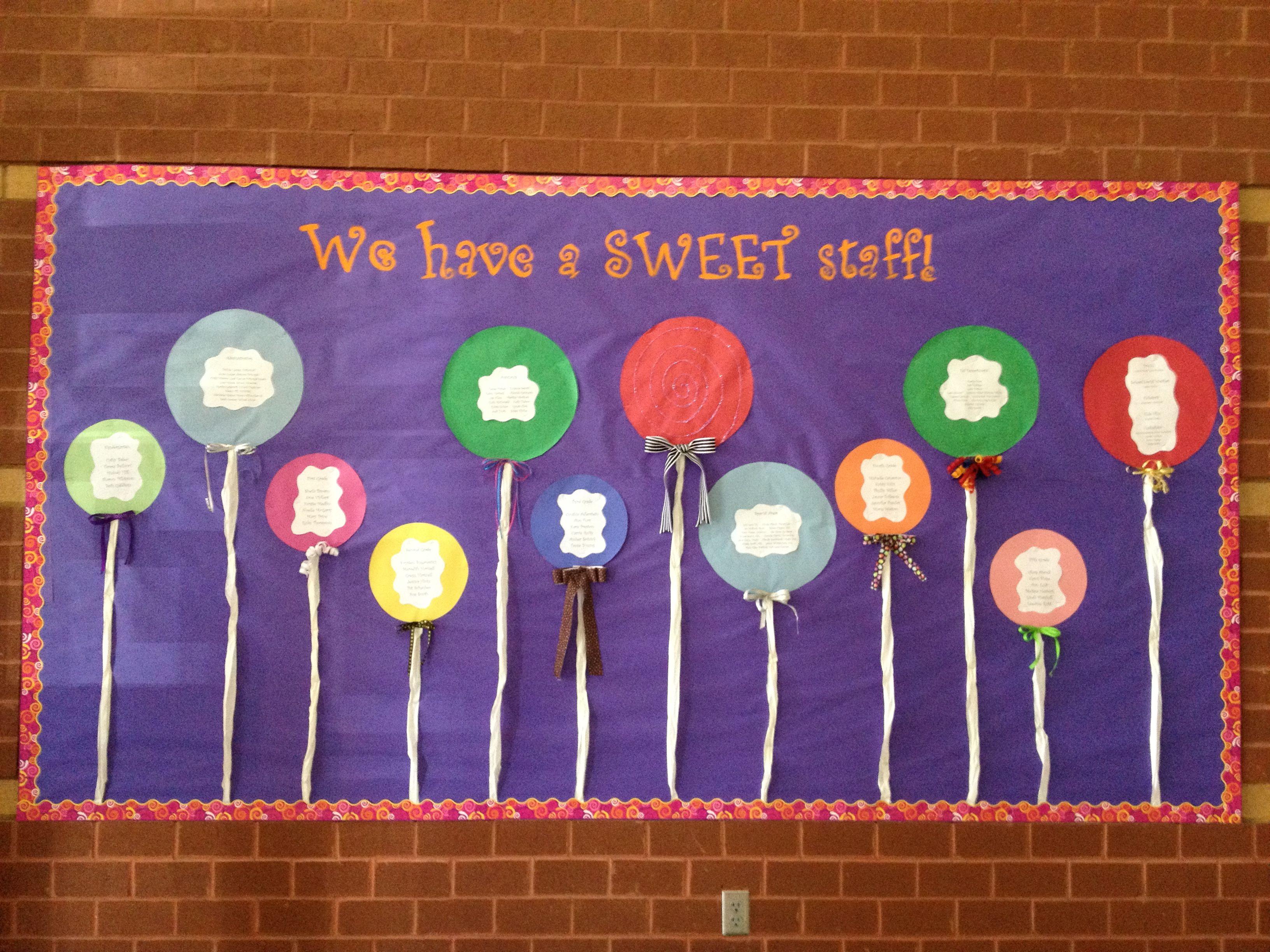 Staff Introduction Board School Decorations Staff Bulletin Boards School Bulletin Boards