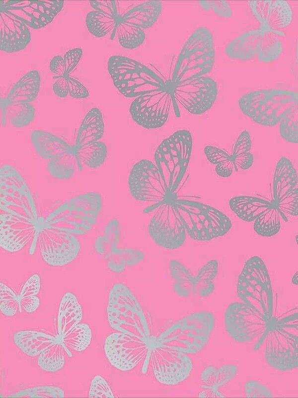 Pink vintage butterfly background - photo#40