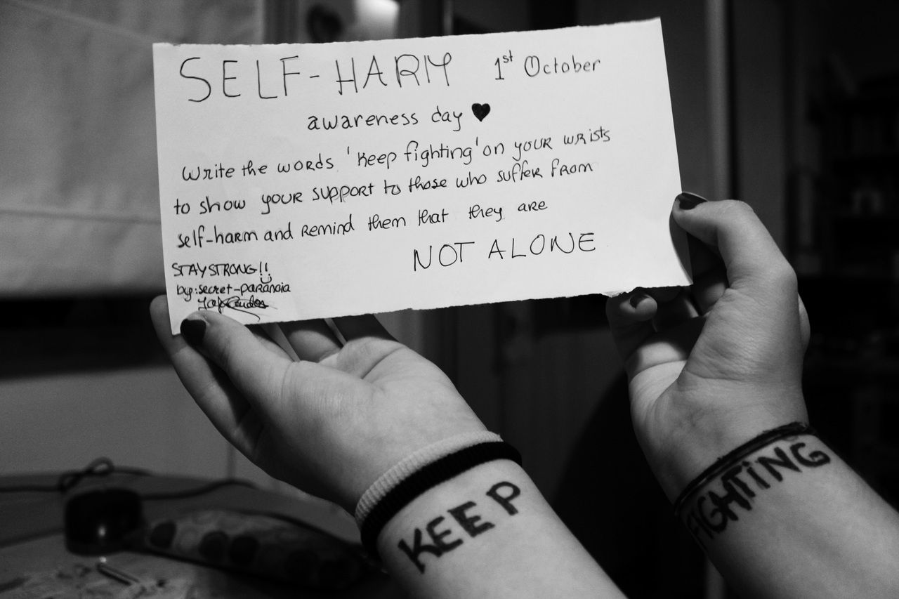 "Self Harm Quotes Self Harm Awareness Day  October 1Stwrite The Words ""keep"