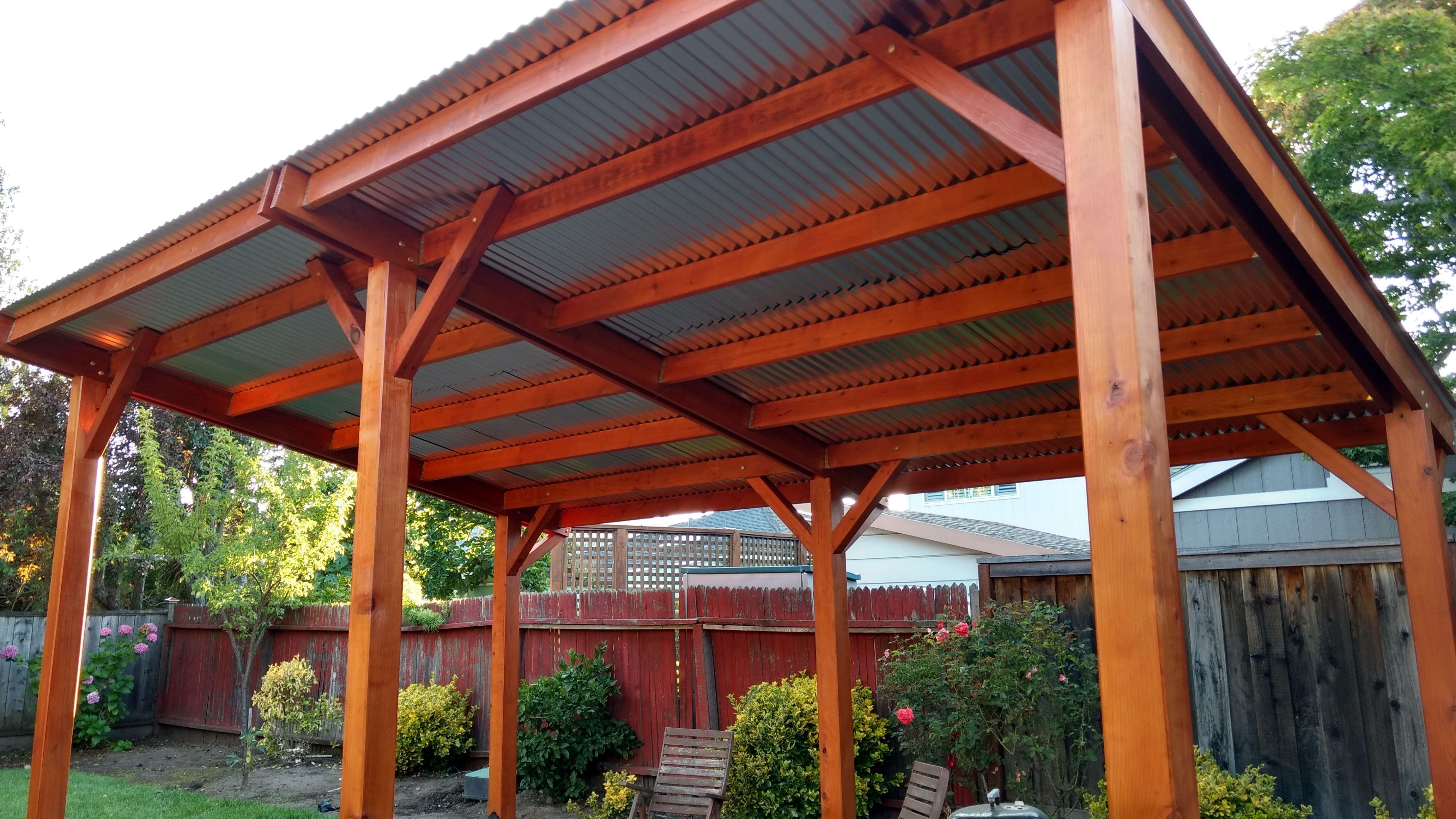 Metal roof Pergola shade, Pergola patio, Curved pergola