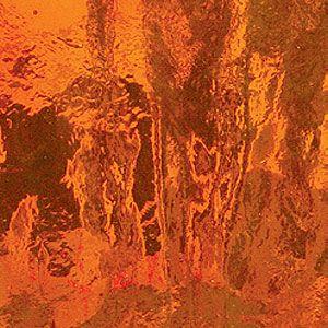 Stained Glass Sheet Orange Transparent Spectrum Mosaic