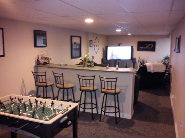Small Space Man Cave Ideas : Man cave my first house built in basement small game