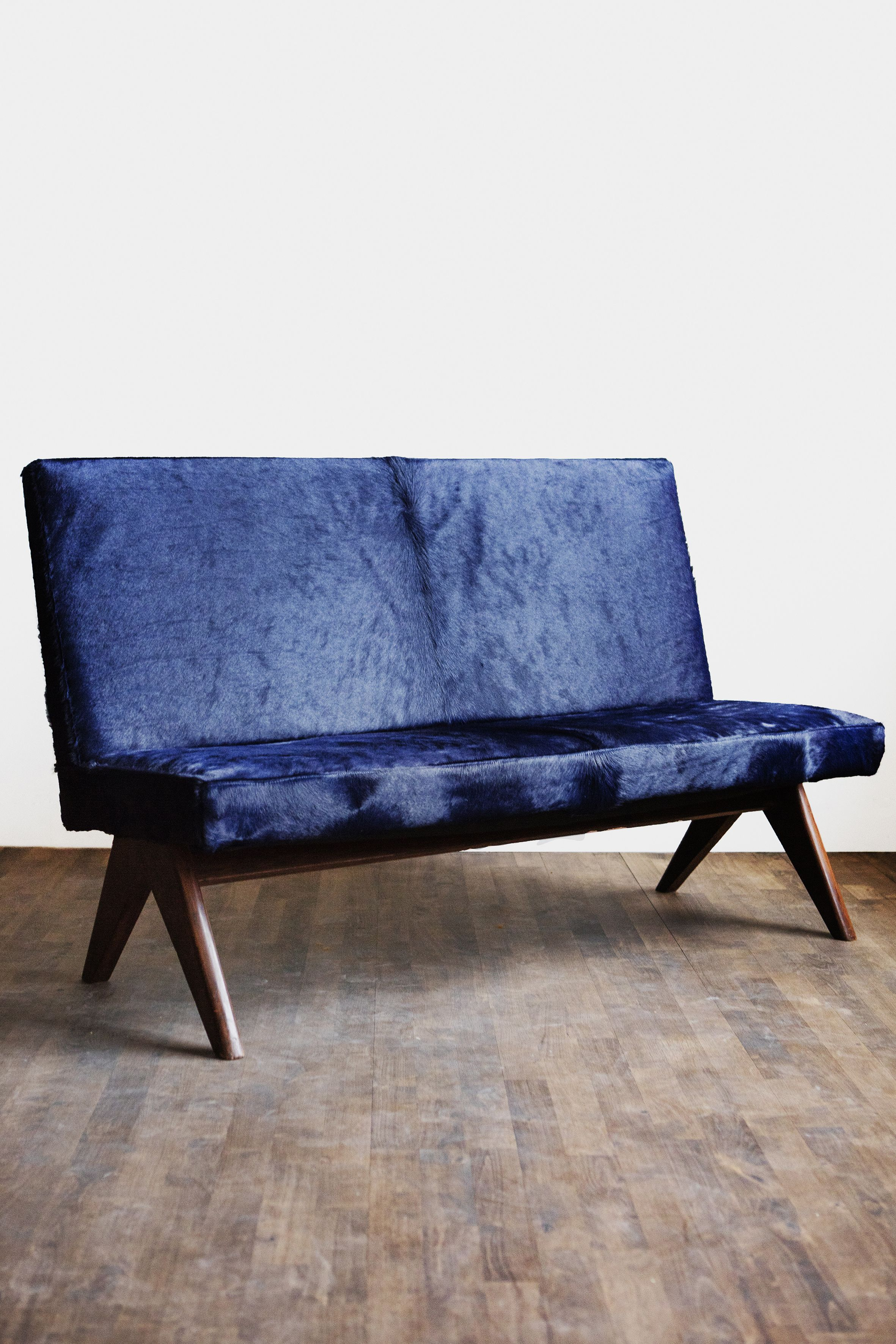 Image of Public Bench in Midnight Blue by Pierre Jeanneret