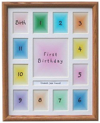 Starting With Birth For Monthly Pictures To One Year Frame Baby Frame Babies First Year