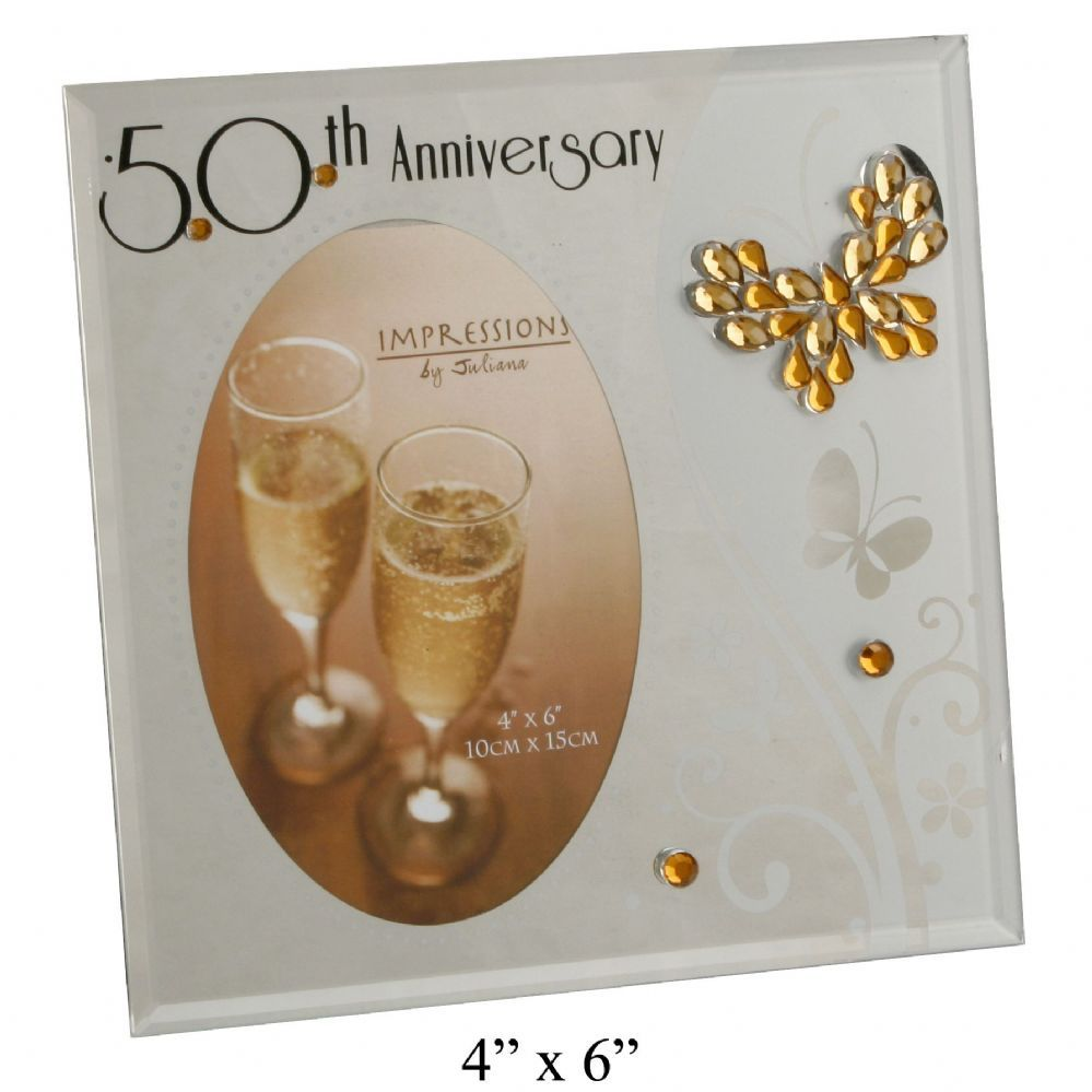 50th Golden Wedding Anniversary Photo Frame Butterfly Wedding Anniversary Photos Special Wedding Anniversary Gifts Wedding Anniversary Gifts