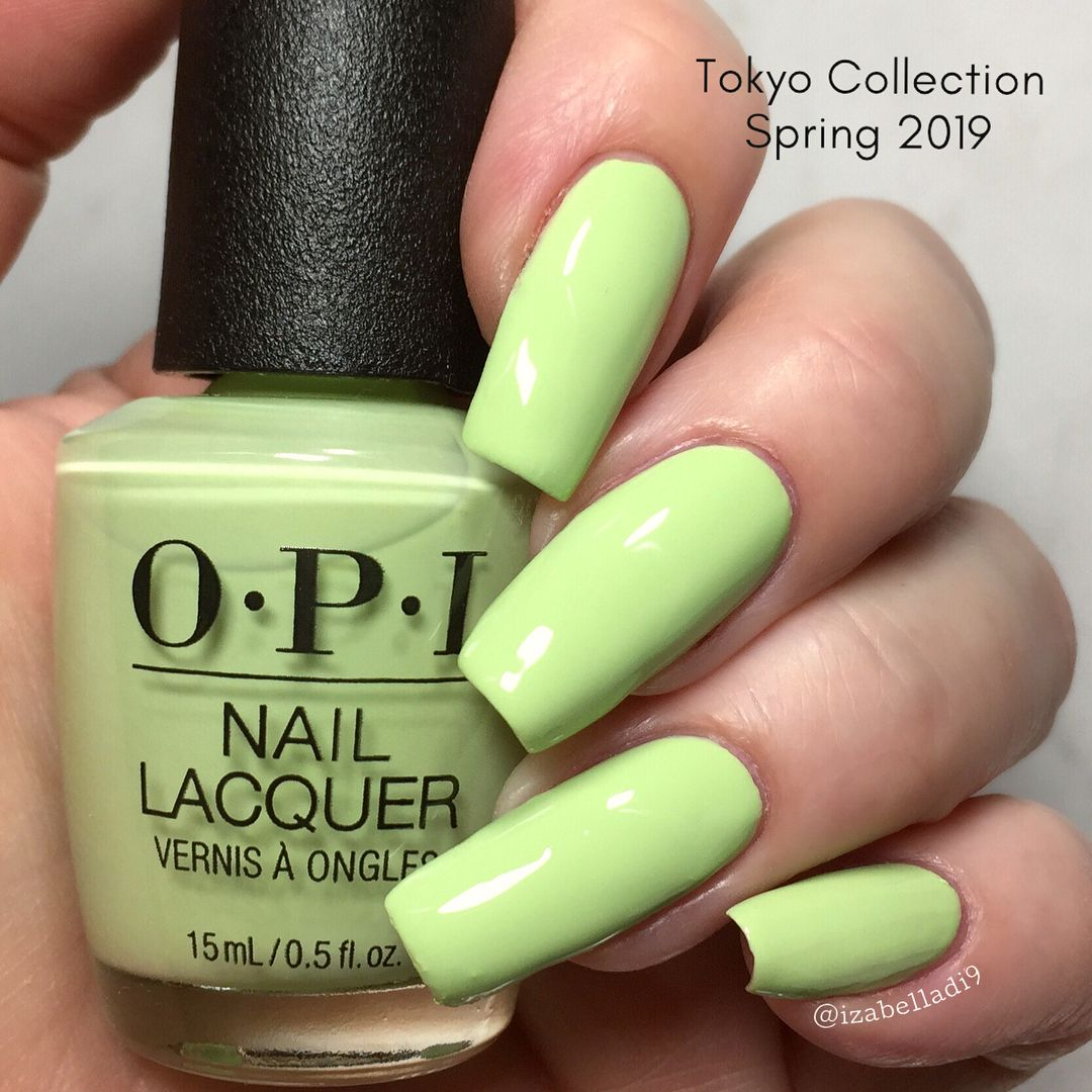 This Is How Does Your Zen Garden Grow From Opi Spring 2019 Tokyo Collection Cream Opaque In 2 Coats Lo How To Grow Nails No Chip Nails How To Do Nails