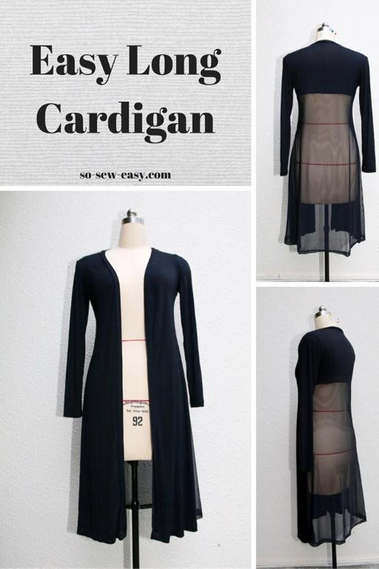 Easy Long Cardigan | LOOKS 2 | Pinterest | Costura