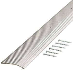 Trafficmaster Silver Fluted 72 In X 2 In Carpet Trim 18565 The Home Depot Transition Strips M D Building Products Vinyl Flooring