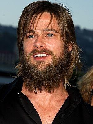 Women Who Love Beards And The Men That Grow Them Celebrities With Beards Brad Pitt Beard Brad Pitt Hair Beard No Mustache