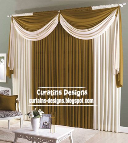 Room Contemporary Scarf Curtain Model For Living