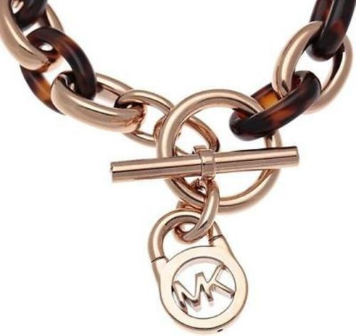 Bracelet that matches every outfit! --> New-Michael-Kors-Rose-Gold-Tortoise-Chain-Logo-Padlock-Toggle-Bracelet-MKJ4059 #Bracelet #Fashion #Tortoise #Accessories #MK #MichaelKors $73.77