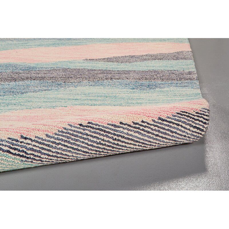 Nance Hand Tufted Wool Cotton Blue Pink Gray Area Rug In 2020 Grey Area Rug Area Rugs Yellow Area Rugs