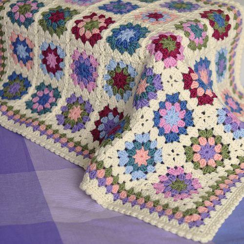 Summer Garden Crochet Blanket Patterns Crochet Edging Crochet Granny Square Blanket