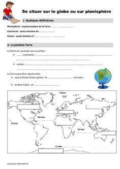 Globe - Planisphère - Ce1 - Leçon en 2020 (avec images ...