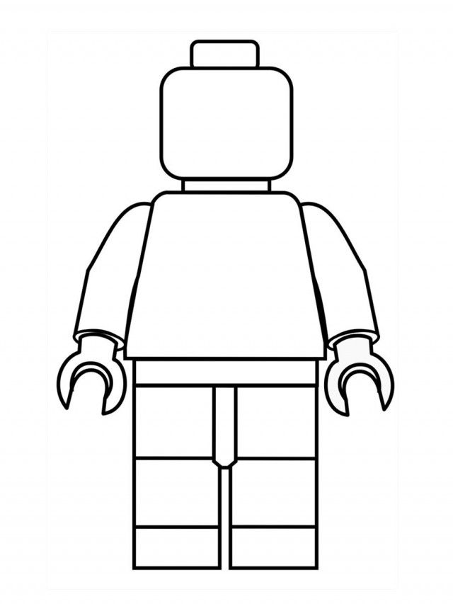 Lego Minifigure Coloring Pages Printable Coloring Pages For Kids - new easy lego coloring pages