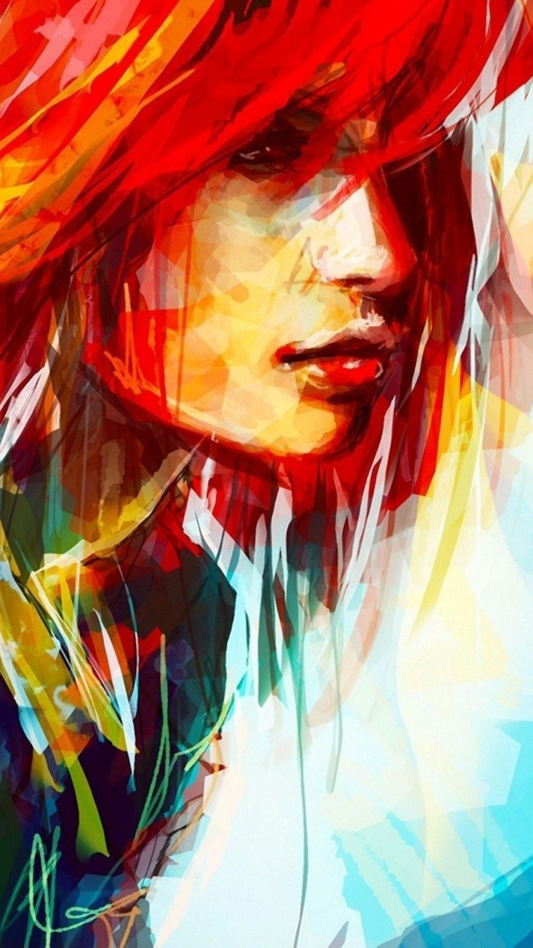 1080x1920 1080x1920 Hd Wallpaper Portrait Wallpapersafari Digital Art Illustration Illustration Example Painting