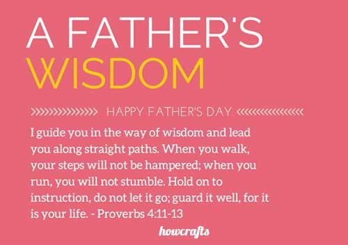 fathers day verses bible verses for fathers | Wisdom quotes ...