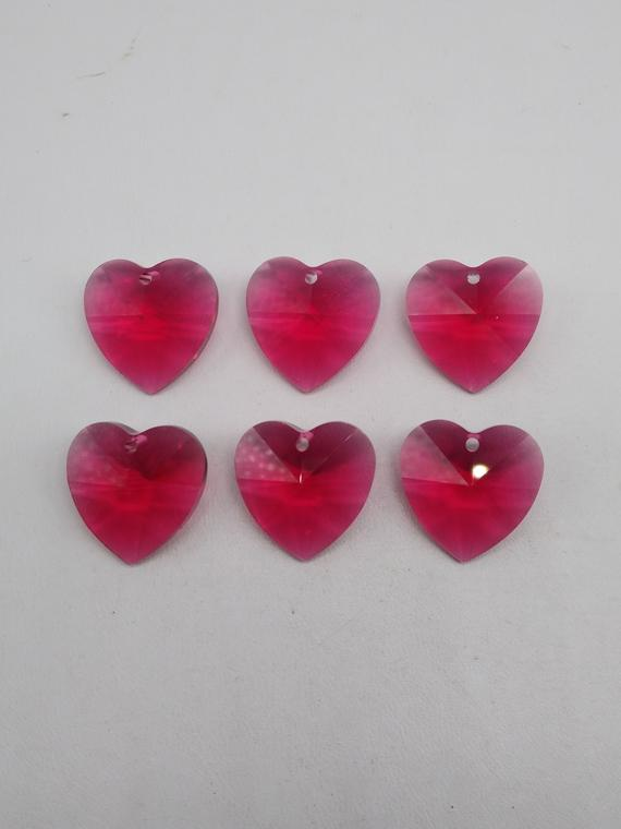 Fine Style Heart Shaped Crystal Effect Sparkly Button Acrylic 2 Hole