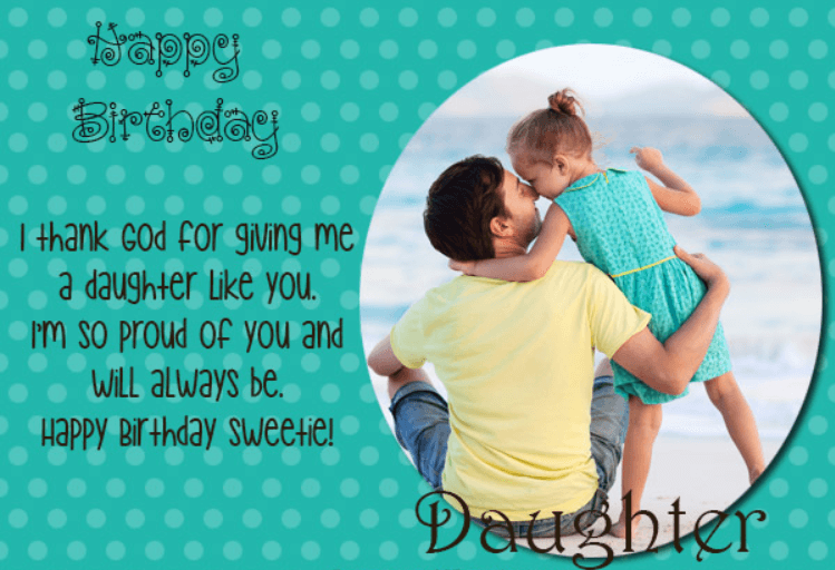 Happy Birthday Quotes For Daughter From Father 1 Birthday Wishes