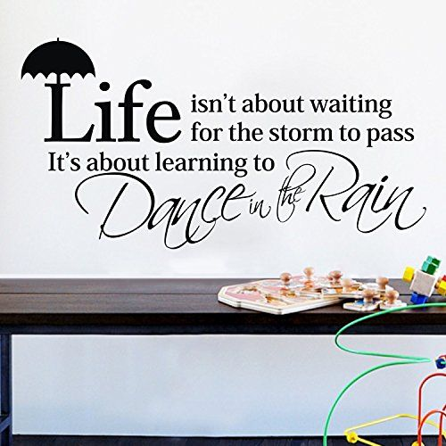 Life Isn't About Waiting for Dance in the Rain Wall Decals Sticker Art Decor for Kid Bedroom Living Room girls ColorfulHall http://www.amazon.com/dp/B00L8LFXQQ/ref=cm_sw_r_pi_dp_A3t5ub1VQPW2S