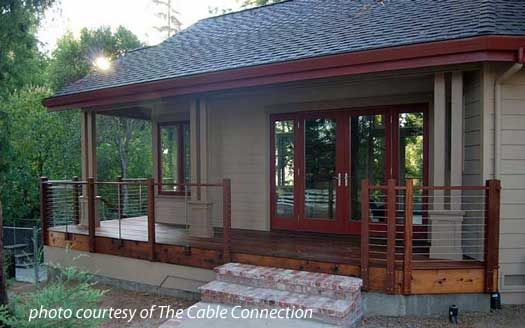 Stainless Steel Cable Railing Porch Railings Deck Railing Ideas Cable Railing Porch Railing House Front Porch