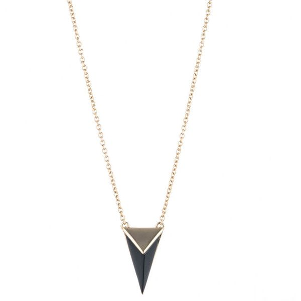 Faceted Pyramid Pendant ($115) ❤ liked on Polyvore featuring jewelry, pendants, pyramid pendant, charm pendant, pyramid jewelry, pendant jewelry and pendant necklace