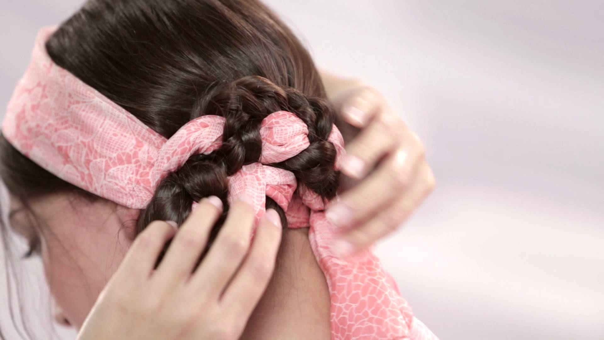 Scarf Hairstyles - How To Create A Head Scarf Hair Braid - Pureology