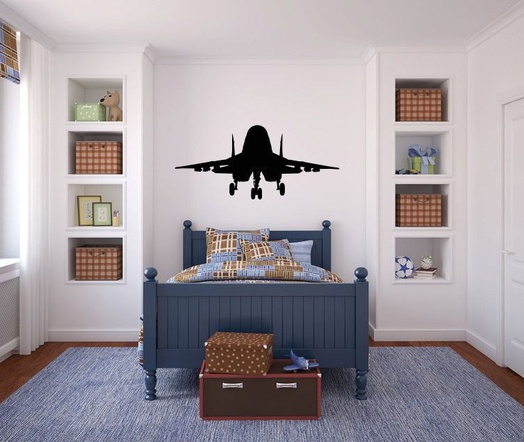 Fighter Jet Military Airplane Vinyl Wall Decal Sticker Graphic - Custom vinyl wall decals removal options