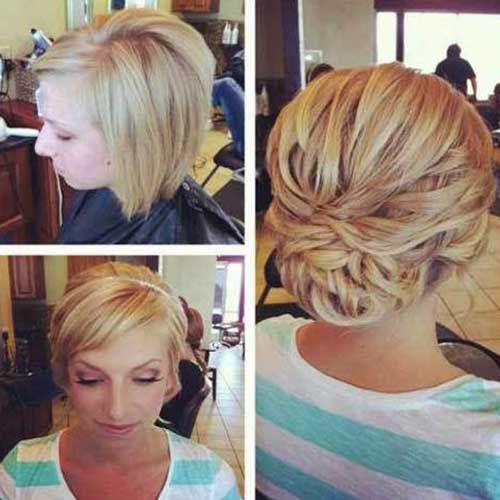 10 Bob Updos Http Www Short Hairstyles Co 10 Bob Updos Html Short Wedding Hair Short Hair Up Short Hair Updo