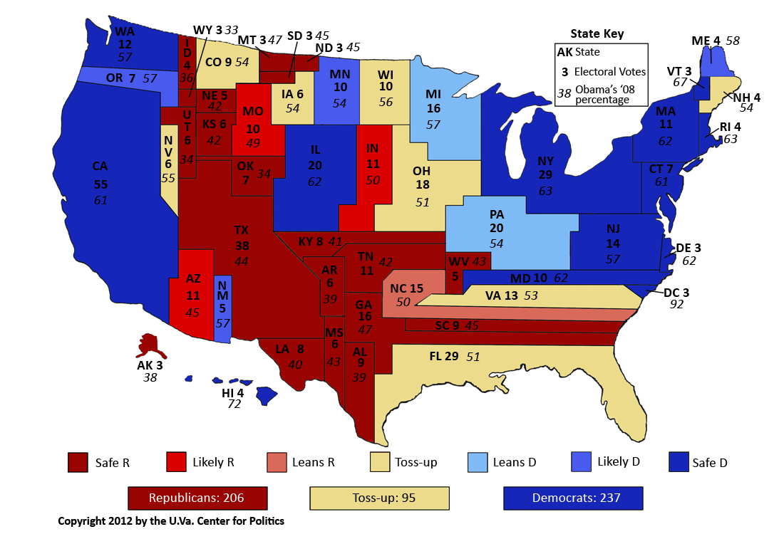 Map 1: The Political Map of the United States, by current Crystal ...